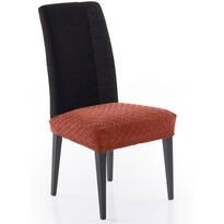 Multielastický poťah na sedák na stoličku Martin terakota, 50 x 60 cm, sada 2 ks