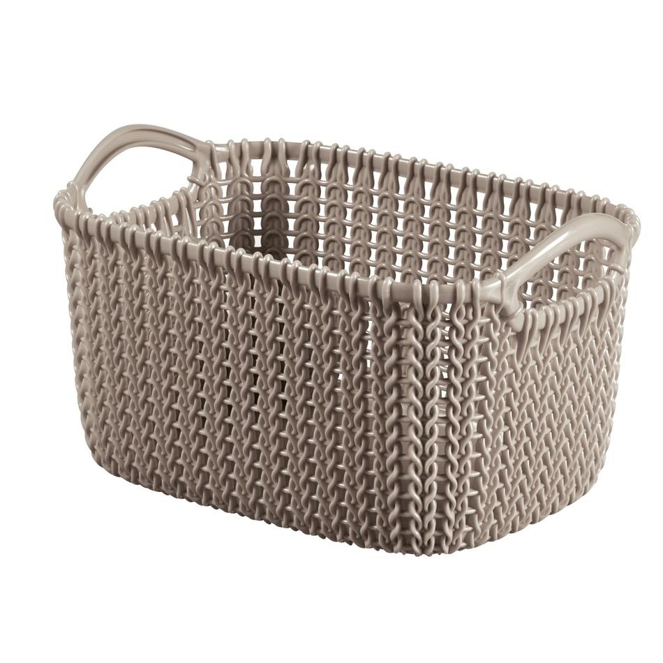 Koszyk Knit XS 3 l, brązowy, 03675-X59