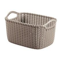Curver 03675-X59 koszyk Knit XS 3 l, brązowy