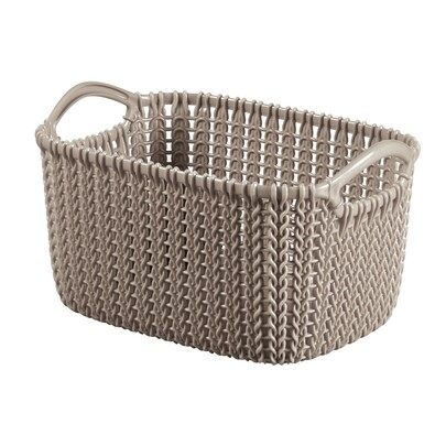 Curver 03675-X59 košík Knit XS 3 l, hnědá