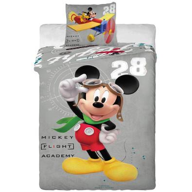Dětské bavlněné povlečení Mickey and Plane, 140 x 200 cm, 70 x 90 cm