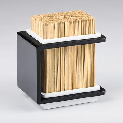 Bambusový stojan na nože Fakir 17 x 20 cm, černý