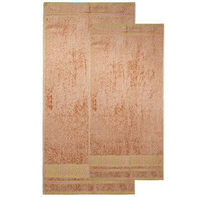 Set de două prosoape 4Home Bamboo Premium, bej, 70 x 140 cm, 50 x 100 cm