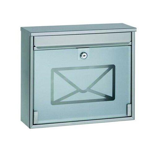 Rozsdamentes acél postaláda edzett üveggel