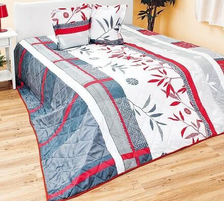 Přehoz na postel červený, 240 x 220 cm