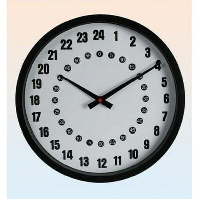 24hodinové nástěnné hodiny
