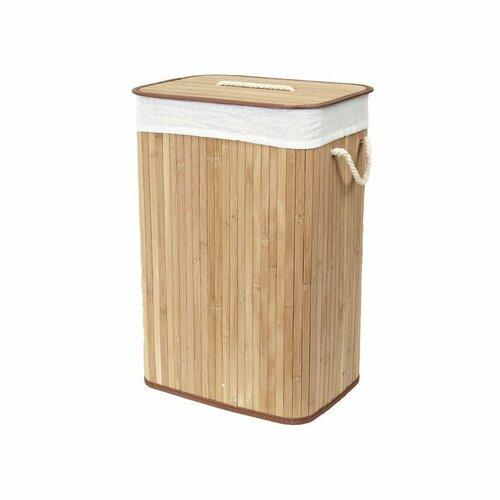 Compactor Koš na špinavé prádlo Bamboo hranatý, přírodní
