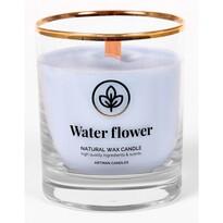 Lumânare parfumată în sticlă Water flower, 500 g, 9,5 cm