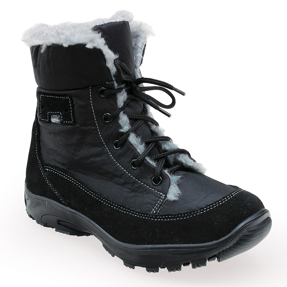 Santé dámska zimná obuv s kožušinkou čierna, 40