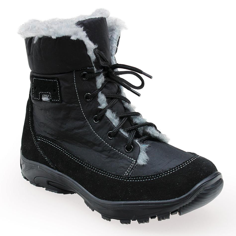 Santé dámská zimní obuv s kožíškem černá, 40