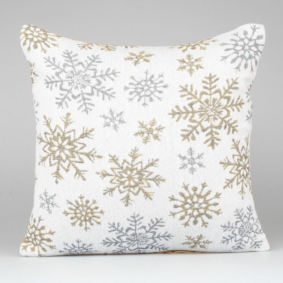 Dakls Povlak na polštář Snowflakes bílá 40 x 40 cm
