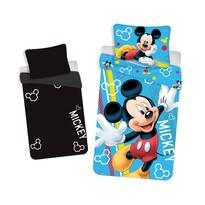 Dětské bavlněné svítící povlečení Mickey, 140 x 200 cm, 70 x 90 cm