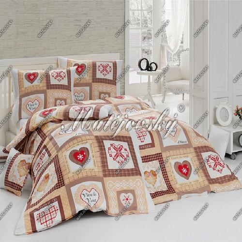 Matějovský bavlnené obliečky Harmony Terra, 200 x 210 cm, 2 ks 70 x 90 cm