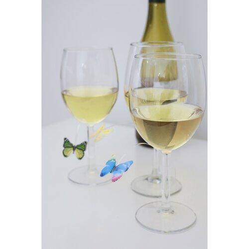 Označovač skleničky Motýlci, 12 ks