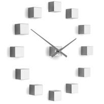 Future Time FT3000SI Cubic silver Designowe zegar samoprzylepny, śr. 50 cm