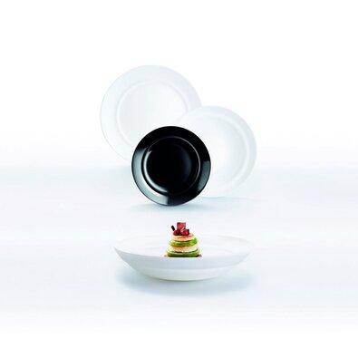 Luminarc 18dílná jídelní souprava ALEXIA,bílo-černá