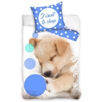Pamut ágyneműhuzat Sleeping Little Dog, 140 x 200 cm, 70 x 90 cm