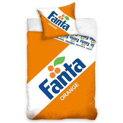 Bavlnené obliečky Fanta Clasic logo, 140 x 200 cm, 70 x 90 cm