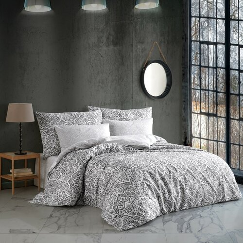 Lenjerie de pat din bumbac Hanzade, negru, 140 x 200 cm, 70 x 90 cm