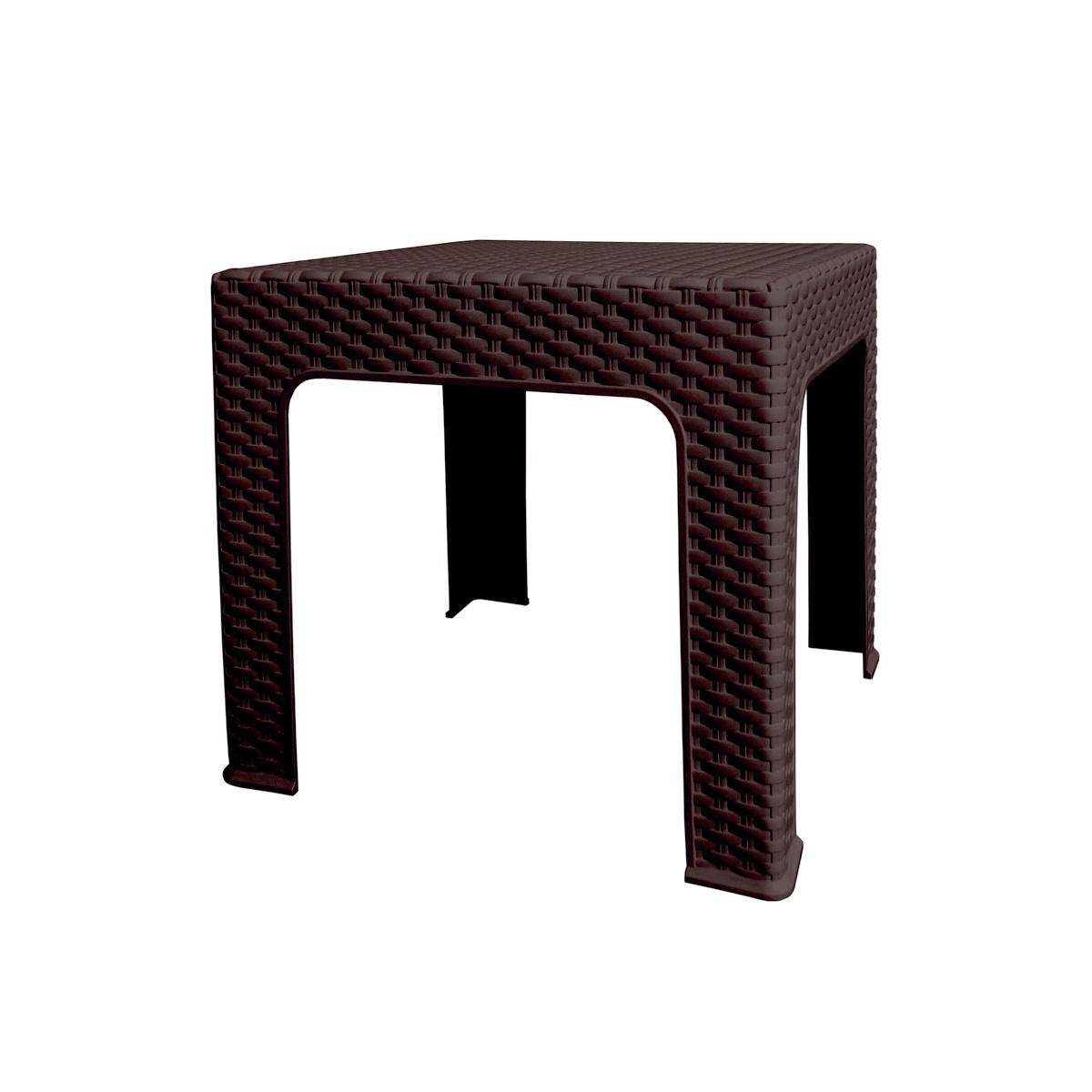 Záhradný stolík Bistro Ratan, 42 x 48 x 48 cm, wenge