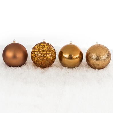 Vánoční koule mix pr. 10 cm, měděná
