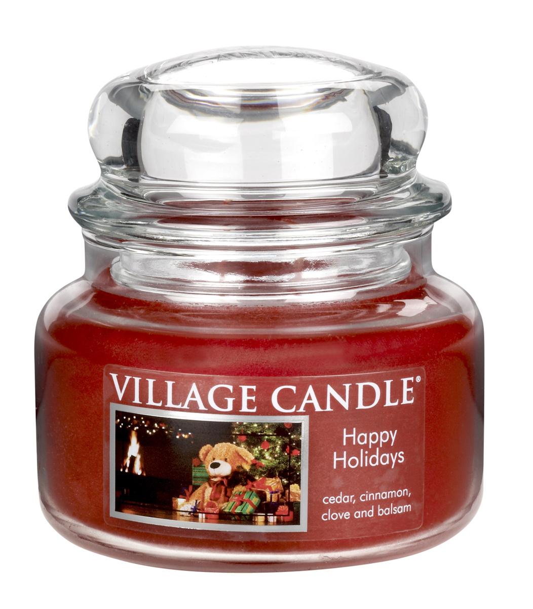 Village Candle Vonná svíčka, Šťastné Vánoce - Happy Holidays, 269 g, 269 g