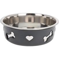 Castron câine Heart and bone gri, diam. 21 cm