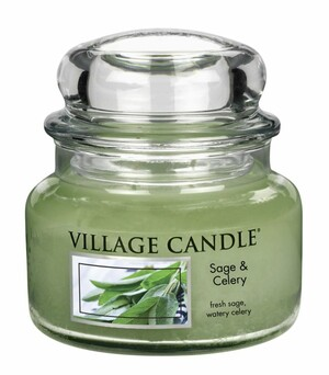 Village Candle Vonná svíčka ve skle, Svěží šalvěj - Sage Celery, 11oz, 269 g