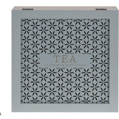 Drevený box na čaj Trento, zelená