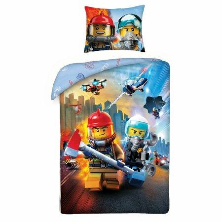 Dětské bavlněné povlečení Lego Zásah, 140 x 200 cm, 70 x 90 cm