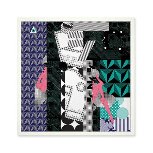 Funk Fu Plagát Ville 50 x 50 cm, digitálna tlač