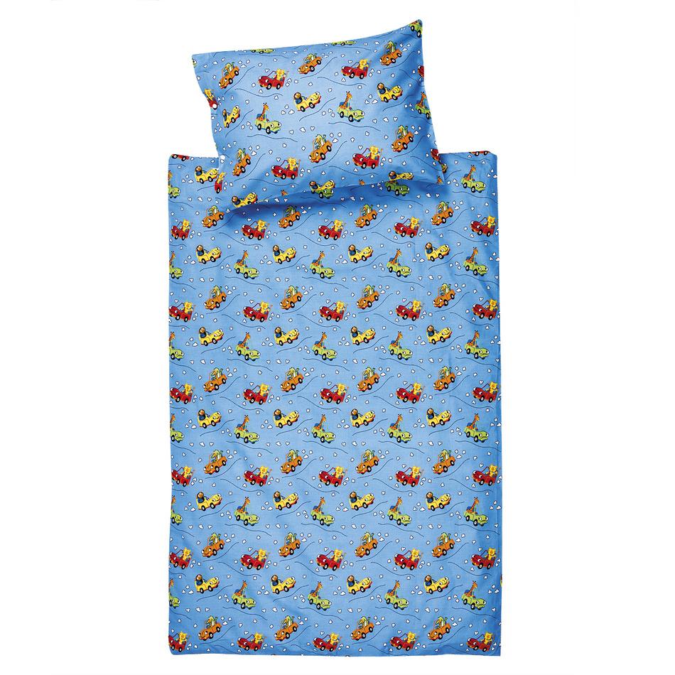 JAHU Detské bavlnené obliečky do postieľky Autíčka, 100 x 135 cm, 40 x 60 cm