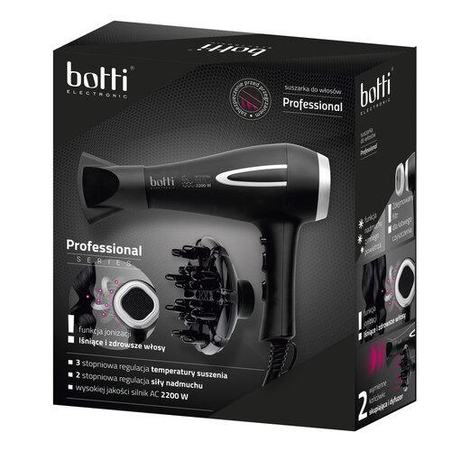 Botti Professional 6S1108 vysoušeč vlasů, černá