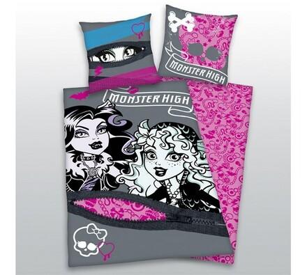 Dětské povlečení Monster High, 140 x 200 cm, 70 x , šedá, 140 x 200 cm, 70 x 90 cm