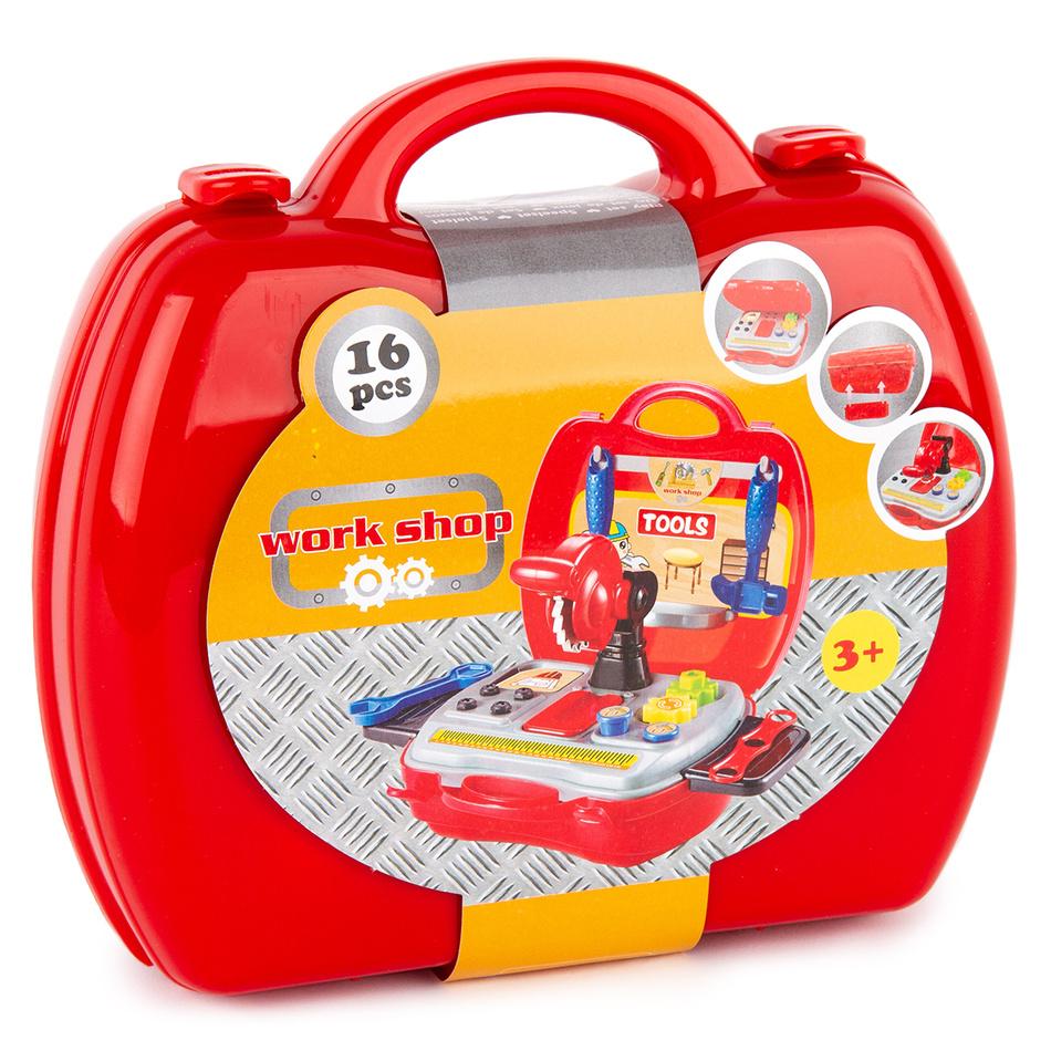 Kufřík s nářadím, červená