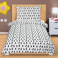 Lenjerie de pat din bumbac Pisicuțe, 140 x 200, 70 x 90 cm