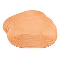 Suport farfurie Deco, oval, portocaliu, 30 x 45 cm, set 4 buc.