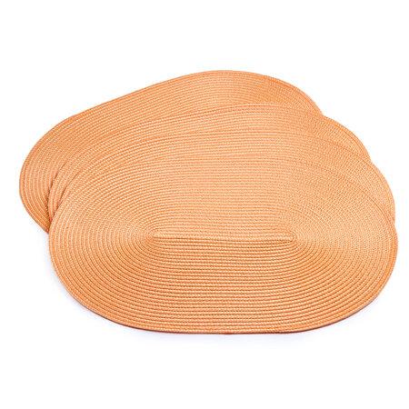 Podkładki na stół Deco owalne pomarańczowy, 30 x 45 cm, zestaw 4 szt.