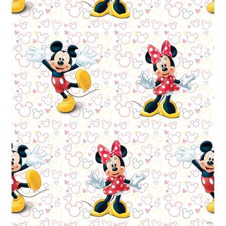 Dětská fototapeta Mickey a Minnie, 53 x 1005 cm