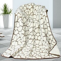 DUO Caschmere Kövek gyapjú takaró, 155 x 200 cm
