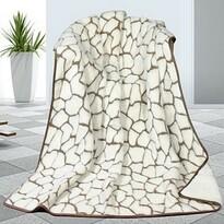 Koc wełniany DUO Caschmere Kamienie, 155 x 200 cm
