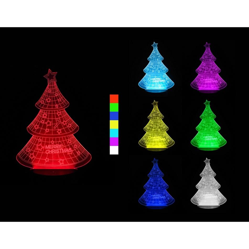 3D LED lampa Vánoční stromek