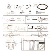 Napínací lanková souprava Ring chrom, 5 m