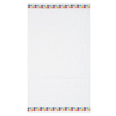 Ručník Mozaik bílá, 50 x 90 cm