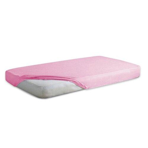 Cearșaf jersey impermeabil, pentru copii, roz, 60 x 120 cm