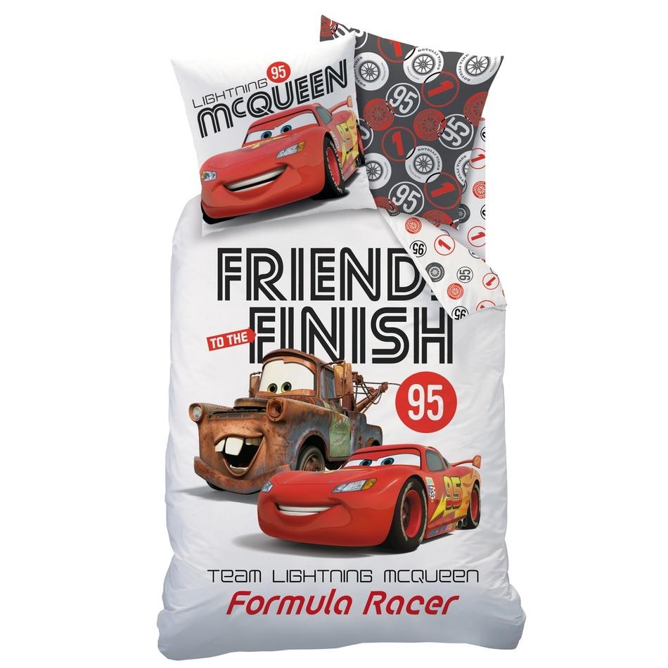 CTI Dětské bavlněné povlečení Cars Formula Racers, 140 x 200 cm, 60 x 80 cm