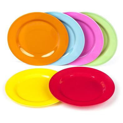 6dílná sada plastových talířků
