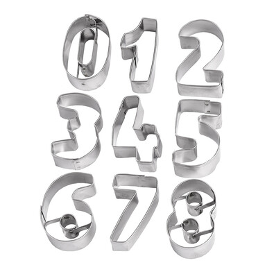 Formičky na pečení čísla