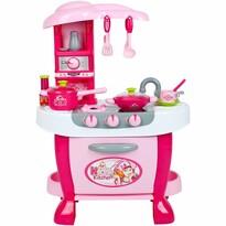 Bayo Dětská kuchyňka s dotykovým senzorem růžová, 70 x 51 x 30 cm