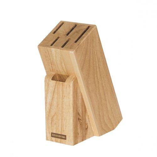 Tescoma Blok WOODY na 5 nožov a nožnice na hydinu